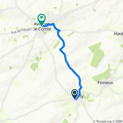De 4 Rue de Sombrin, Barly à 48 Grande Rue, Avesnes-le-Comte