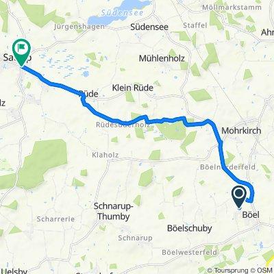 Nieby 3, Böel nach Schleswiger Straße 2, Mittelangeln