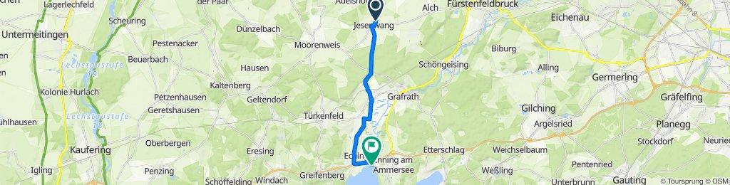 Römerstraße 3, Jesenwang nach Landsberger Straße 80, Inning am Ammersee