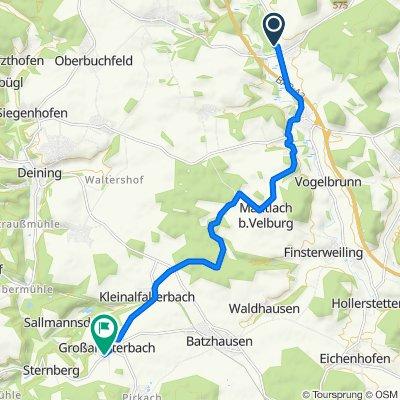 Hammerstraße 11B, Velburg nach Thanner Weg 6, Deining