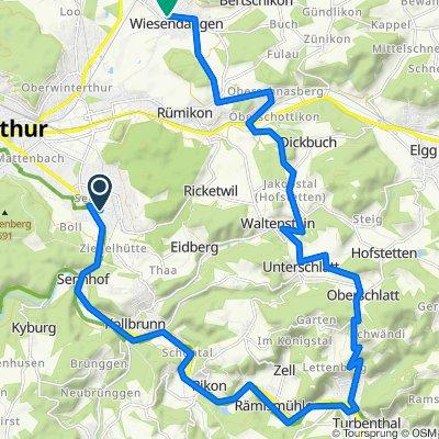 Oberseenerstrasse 30, Winterthur nach Schulstrasse 9, Wiesendangen