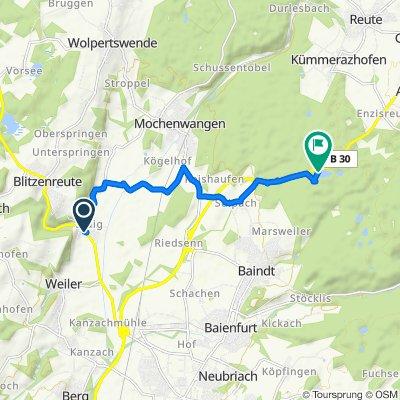 Hahnenweide 9, Fronreute nach B30, Baindt