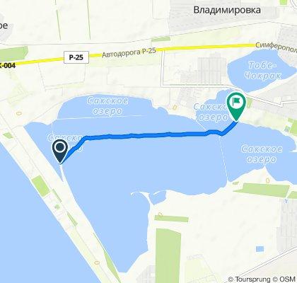 От Крымский полуостров до Unnamed Road, Саки