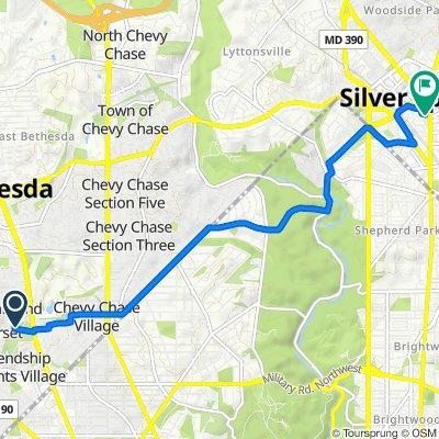 5801 Deal Pl, Somerset to 1010 Wayne Ave, Silver Spring