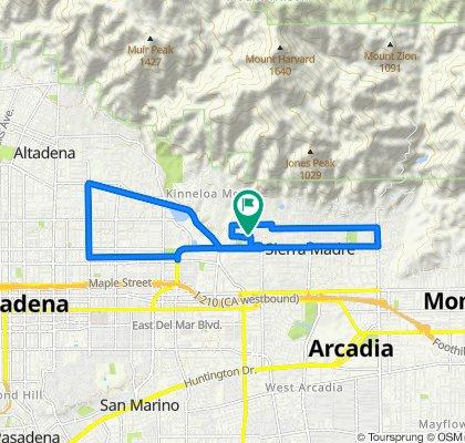 1105 Medford Rd, Pasadena to 1105 Medford Rd, Pasadena