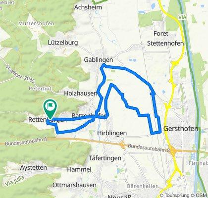 Rettenberger Straße 5, Gersthofen nach Rettenberger Straße 3, Gersthofen