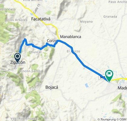 De Carrera 4 5-2–5-50, Bojacá a Carrera 22 5-205, Mosquera