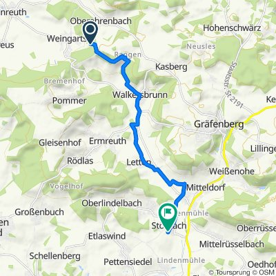 Regensberg 1 1/2, Kunreuth nach Kirchenweg 18, Igensdorf