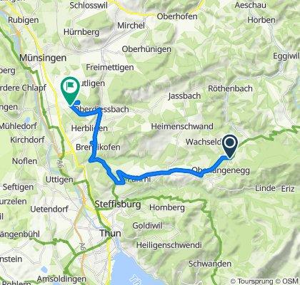 Wachseldorn-Fahrni-Wrach. 24km, 300hm