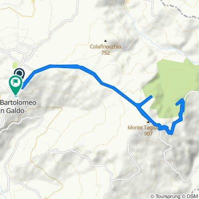 Da Via IV Novembre 3A, San Bartolomeo In Galdo a Vico Lungo Faioli 19, San Bartolomeo In Galdo