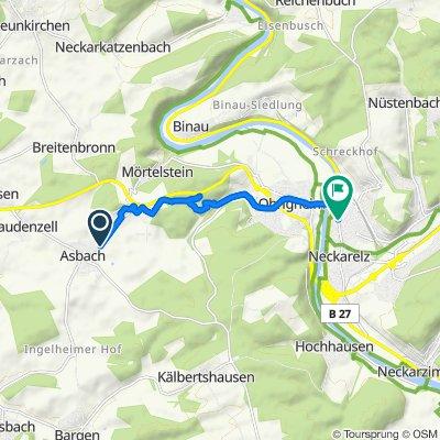 Am Bahnhof, Obrigheim nach Heidelberger Straße 77, Mosbach