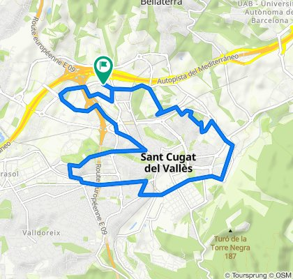 De Avenida de la Vía Augusta, 134, Sant Cugat del Vallès a Avenida de la Vía Augusta, 134, Sant Cugat del Vallès