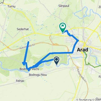Route to Strada Ion Câmpineanu 40, Arad