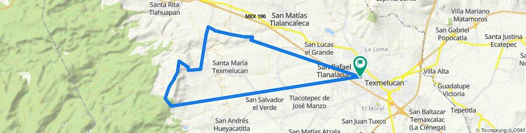 De Manuel P. Montes 101, San Martín Texmelucan de Labastida a Manuel P. Montes 101, San Martín Texmelucan de Labastida
