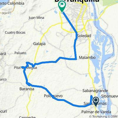 De Calle 6 1062, Santo Tomás a Carrera 14 10546, Barranquilla