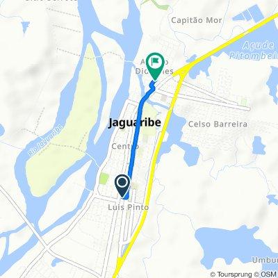 De Rua Maria Tavares Pinheiro, 2–94, Jaguaribe a Rua Antonia Diógenes, 39–151, Jaguaribe