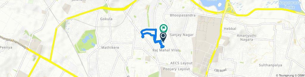 3rd Cross Road 27, Bengaluru to 3rd Cross Road 3, Bengaluru