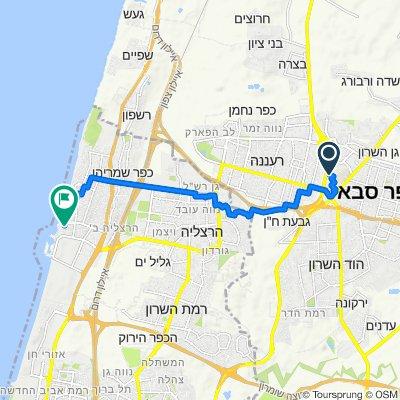 HaHagana Street 20, Kefar Sava to Ramat Yam Street 103, Herzliya