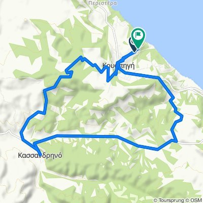 Restful route in Kryopigi