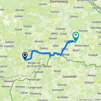Spithal 2, Bergen an der Dumme nach Vor dem Dorfe 5, Lüchow (Wendland)