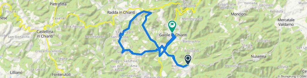 Da Via del Castello 13, Gaiole in Chianti a Piazza Antico Mercato 23, Gaiole in Chianti
