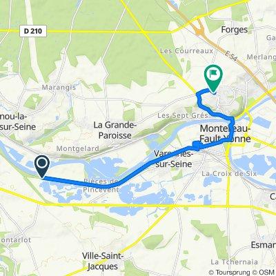 Itinéraire vers 9 Chemin des Ormeaux, Montereau-Fault-Yonne