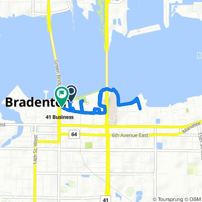 606 Third Ave W, Bradenton to 209 Ninth St W, Bradenton