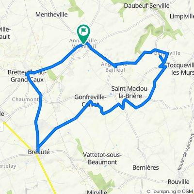 De Rue de la Mairie 6, Annouville-Vilmesnil à Rue de la Mairie 6, Annouville-Vilmesnil
