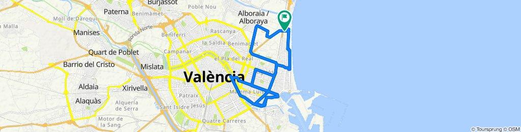 De Calle del Camino a la Mar, Alboraya a Calle de la Patacona, 4, Alboraya