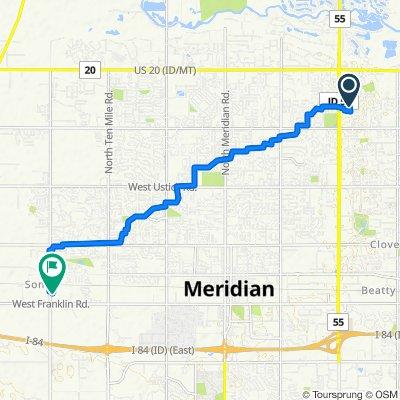 5353 N Blue Ash Pl, Boise to 286 N Black Cat Rd, Meridian