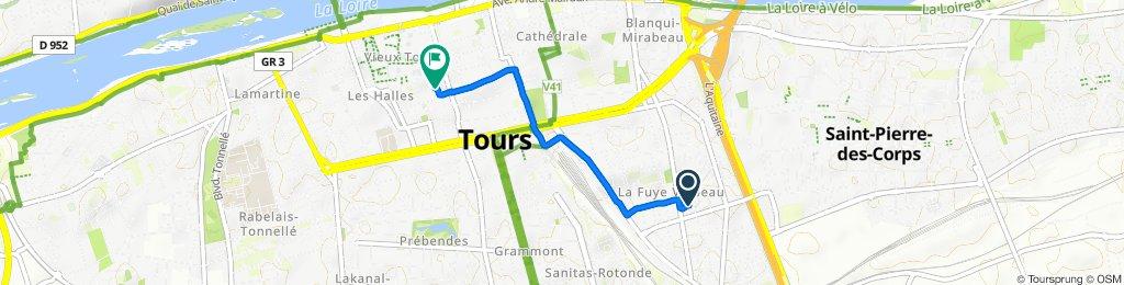 De 7 Passage de la Fuye, Tours à 13 Rue de Jérusalem, Tours