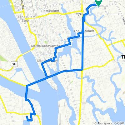 Brooks Bay Garden Road, Thrippunithura to 59C, Brooks Bay Garden Road, Thrippunithura
