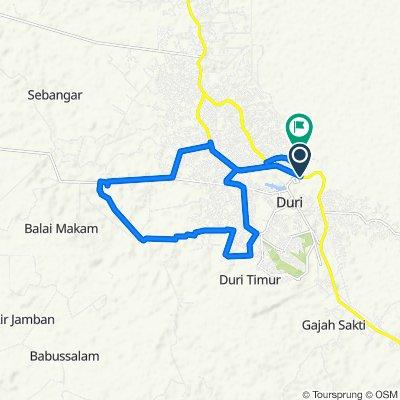 Jalan Jawa 190, Kecamatan Mandau to Gang Perdamaian, Kecamatan Mandau