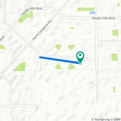 3125 Red Creek Dr, El Paso to 3125 Red Creek Dr, El Paso
