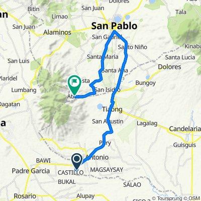 Unnamed Road, San Antonio to Unnamed Road, San Pablo City