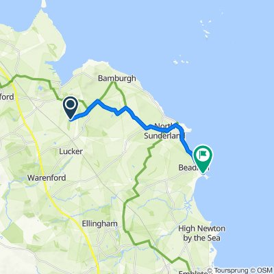 Route to White Rock Cottage, Harbour Road, Chathill
