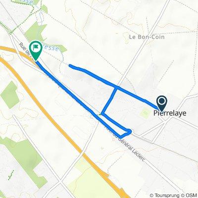 De 1 Rue Léon Pelouse, Pierrelaye à Rue de Paris, Saint-Ouen-l'Aumône