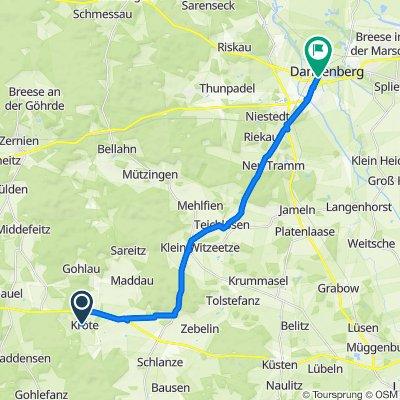 Kröte 1, Waddeweitz nach Lüneburger Straße, Dannenberg (Elbe)