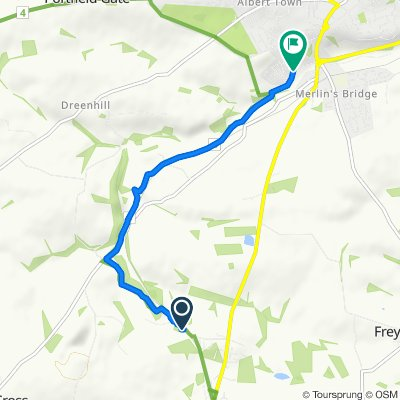 Route to 17–67 Caradog's Well Road, Haverfordwest