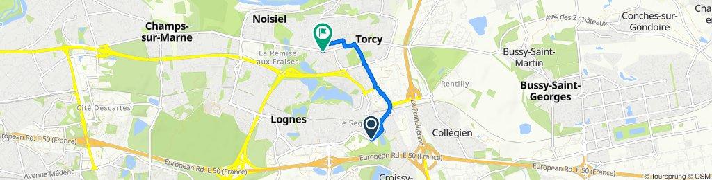 De 95 Boulevard du Segrais, Lognes à 103 Rue de Paris, Torcy