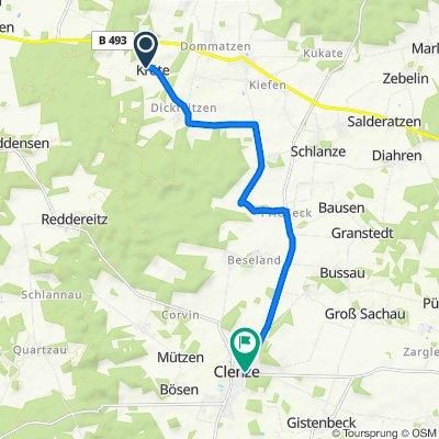 Kröte 1–3, Waddeweitz nach Mühlenstraße 13, Clenze