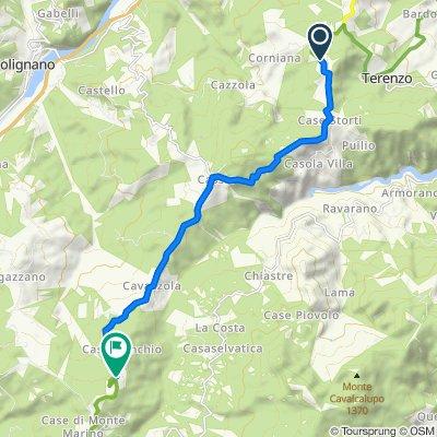 Da Località Case Gandolfi, Terenzo a Località Lago Dignano 42, Berceto