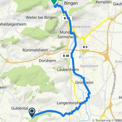 Im Lindelgrund, Guldental nach Adolf-Geyger-Straße 2–4, Bingen am Rhein