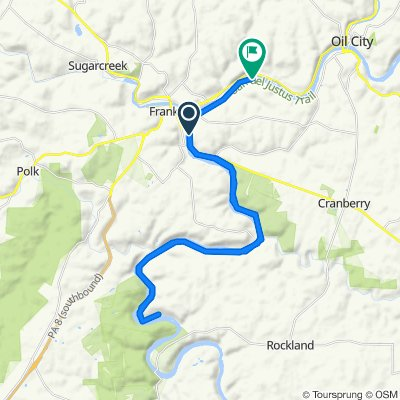 Route from 4574–4582 Lakes to the Sea Hwy, Franklin