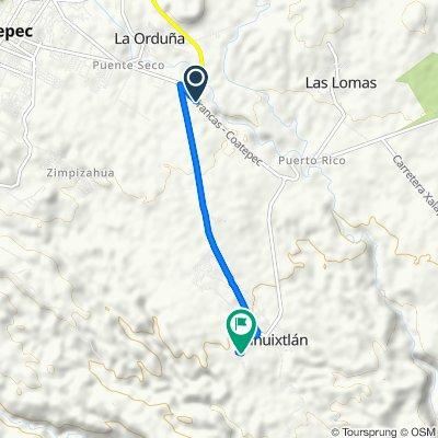 De Carretera Las Trancas-Coatepec, Coatepec a Calle 16 de Septiembre, Coatepec