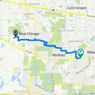951 W Washington St, West Chicago to 1565 Timber Trail, Wheaton