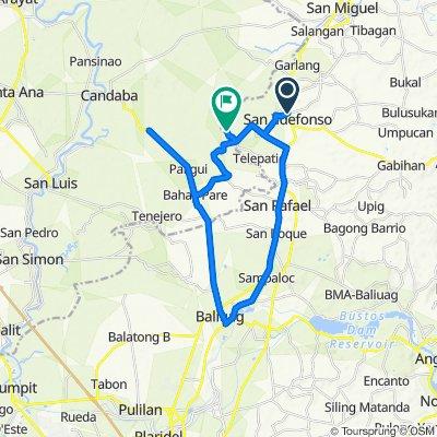 7-11 San Ildefonso - Paligui (former Airplane bike site), Baliuag Round Trip to Home