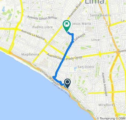 De Malecón de la Marina 1240, Miraflores a Jirón Huamachuco 1810, Jesús María