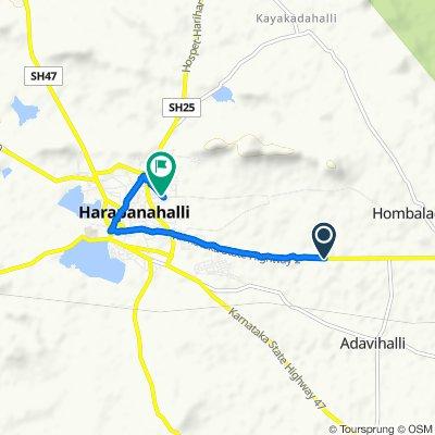 Harapanahalli Road to Unnamed Road, Harpanahalli