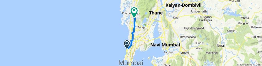 Khan Abdul Gaffar Khan Marg, Mumbai to 3, Road Number 2, Mumbai